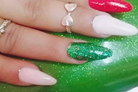 Acrylic-Extension-With-Pink-Green-3D-Flowers-Migliore-Nails-Nail-Art-in-Kathmandu-Nepal-4