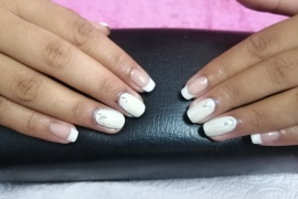 French-Gel-Nail-Training-in-Kathmandu-Migliore-Nails-French-Gel-Nail-Natural-Pink-White-Gel-Color-Chrome-White-Diamond-1