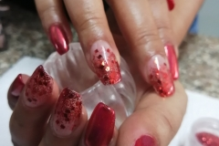 Gel Nail Extension (Red , Glitter, Chrome, Sparkle)