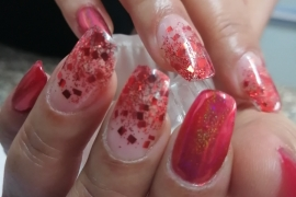 Gel-Nail-Extention-Red-Glitter-Crome-Sparkle-Migliore-Nails-Nail-Art-in-Kathmandu-Nepal-2