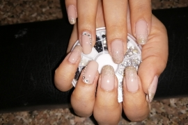 gel-nail-nude-color-golden-glitter-stone-nail-art-in-kathmandu-nepal-migliore-nails-nailarttraininginkathmandunepal-2