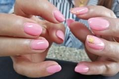 IBD Pink ,Golden Tap , Natural Nail , Colour Gel