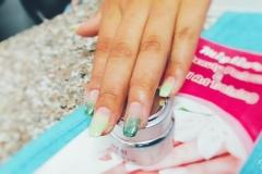 Shrawan special green color gel,green glitter,pink gel