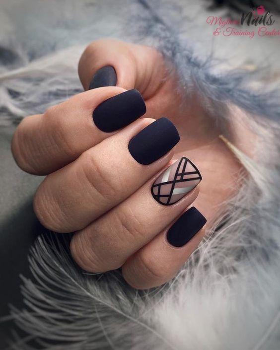 Geometric Nail Art - Nail Art in Kathmandu Nepal - Migliore Nails