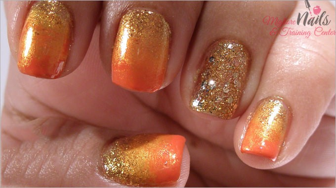 Gold Glitter Nail Art Design - Nail Art in Kathmandu Nepal - Migliore Nails