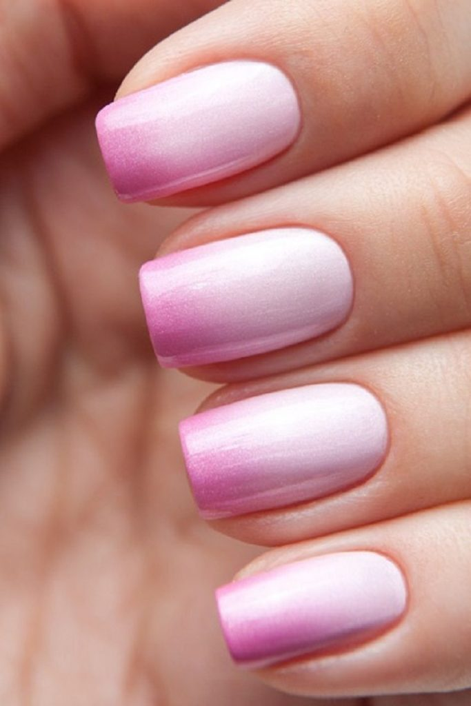 Pink Ombre - Nail Art in Kathmandu Nepal - Migliore Nails