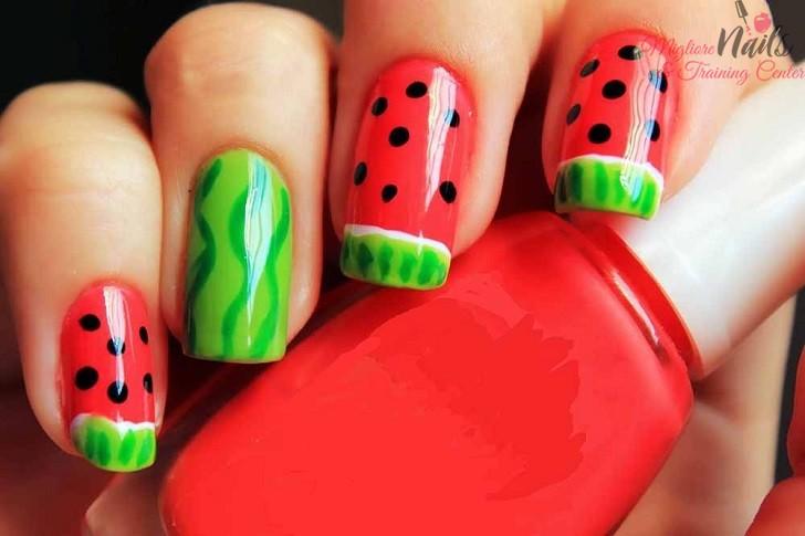 Watermelon Nail Art - Nail Art in Kathmandu Nepal - Migliore Nails